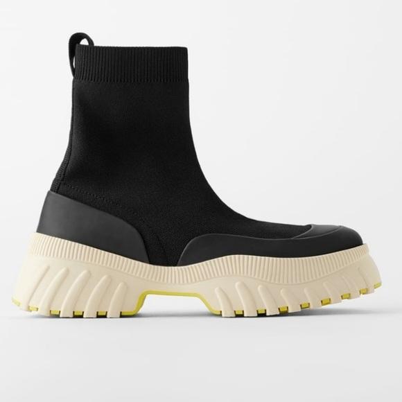 Zara Shoes   Sockstyle High Top Sneaker